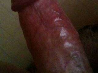 My throbbing cock just before in went in D's hot slit.