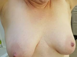 Would you like to play with my heavy milk filled breasts?  🍼🍼🍼