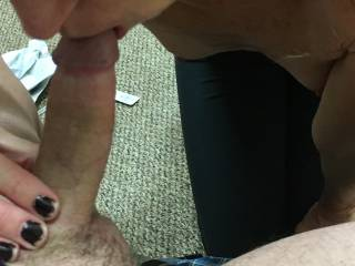 A quick blow job on Friday night. Great sex weekend as we have been talking about having someone else play with my wife. If you like licking pussy, receiving an awesome blow job and fucking a wet pussy, let us know if you are local and available.