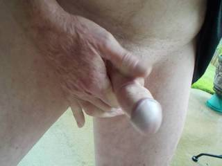 My friend let me video him playing with his cock before I got to suck him off!