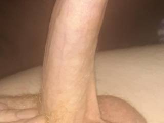 Playing with my long dick