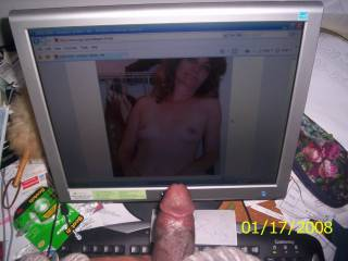 Nice hard cock....if that makes you hard then what would a hot blow job do...lol  MILF K