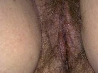 Wow I would eat your hairy sweet tasting pink pussy lips and clit for days on end!!!