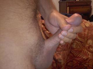 Rubbing my cock and would love some help. Who wants to help me cum?