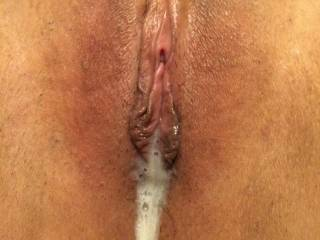 Her pussy sucked all the cum out of my cock... Who wants to clean that up??
