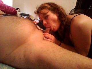 oh yes! she's so sexy and hot! love seeing her sucking his cock!