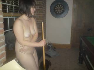 Love to play pool naked