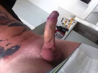 just simply love long thick uncut cocks like mine makes me grab mine and slow jackoff to it!! oh shaved balls are awesome. i do mine 4 times a month and love shaving my shaft!! it would be a dream to hand jack you and have you shoot your thick chunkie cum in my mouth!!  thank you!!