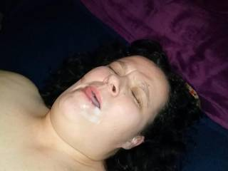 She gets the cum of her fuck buddy. As always it was very tasty.