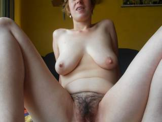 Incredible body!  Love to bury my face in that sweet hairy pussy and them fuck you hard and deep, watching those big tits swing and bounce.