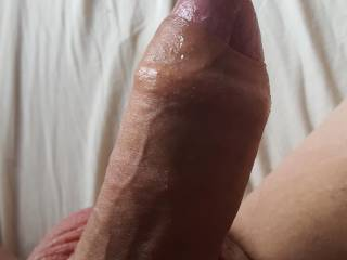 Exposed head with a little precum