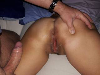 That's nice wett pussy of my wife...love to be fucked hard