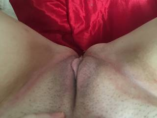 spread wide and clean shaven -Harley