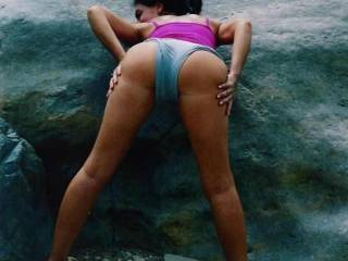 WOW! I love that view, a hot ass with delicious legs and a killer body