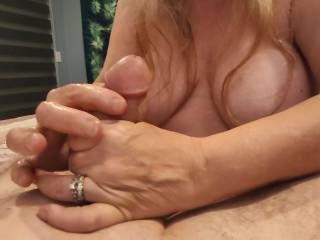 Let me take care of that cock, dear. Allow these married hands to give you a pleasing massage. Take a look at my video of how much love I can give you.