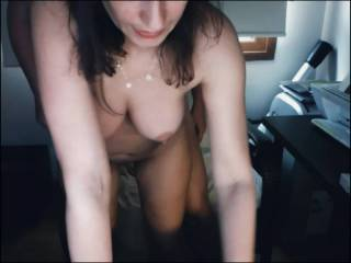 My wife let me to fuck her in standing doggy, but it had to be a quicky one.