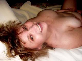Wow!  You are absolutely stunning!  Incredible smile, mesmerizing eyes, beautiful tits and just an amazing body...yummy!!