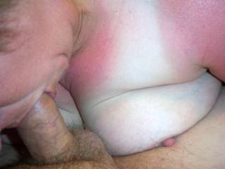 sucking on my cock,anyone else want their cock sucked by my whore wife