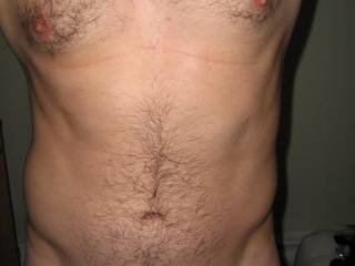 self shot of my hairy chest