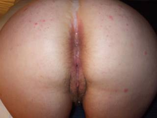 my cum in her pussy and ass and in her crack