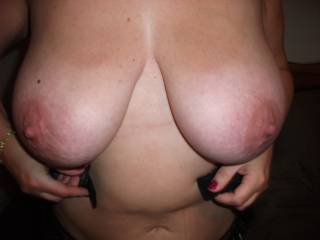 Would love to grab and squeeze your big adorable tits before I eat them...!!!