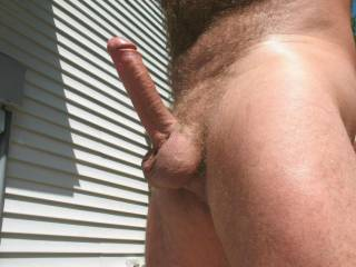 Ooooo that cock looks so hard.  I love sucking a cock outdoors and making it cum....in my mouth...  Do you like watching a married woman eat your cum?  MILF K