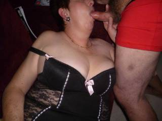sucking hubbys cock  love to have more hard cocks queued up waiting