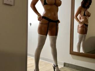 This was a sexy outfit, don't you think?
