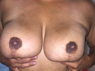 Wife surprised me with pierced nipples