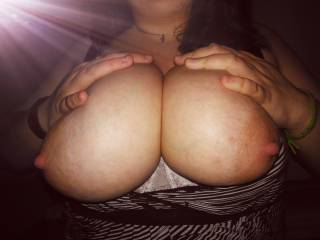 love how big my wife\'s tits are
