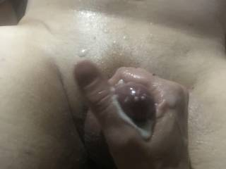 A lovely handjob from the Mrs results in a little mess