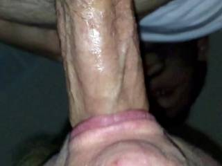Wifey loves my throbbing cock veins in her mouth.