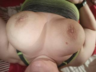 She loves cum on her tits