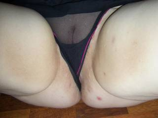 Just pull your panties to one side so i can lick and taste your gorgeous sweet pussy