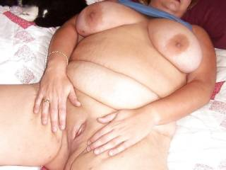 Playing wth my fat pussy and my huge tits Anyone wnat to give a girl a helping hand?