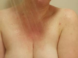 having fun in the shower, but I'd have more fun if you join me!