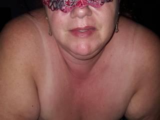 Wifes nice big tits hanging.