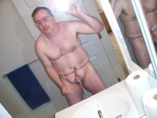 full frontal nudity tied up dick and face.. humiliate me at will.