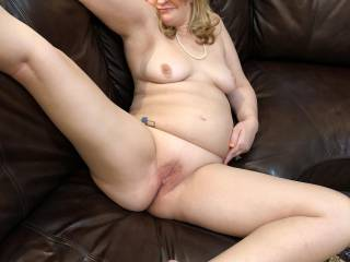 Who wants some of this.  This was taken pre-fuck.  I love to spread it out for all to see.  MY pussy got hammered that night.
