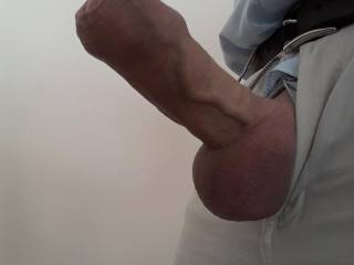 Horny before work. I just had to get my cock out! Do you like?