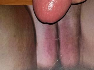 Stroking my hard throbbing cock to Kallie's tight pussy/cock tribute she made for me!