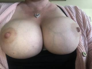 I ran into Kiki today and told her I missed her big tits so she sent me a pic.