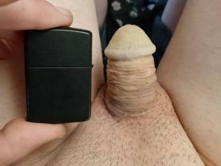 My cock compared to a zippo lighter