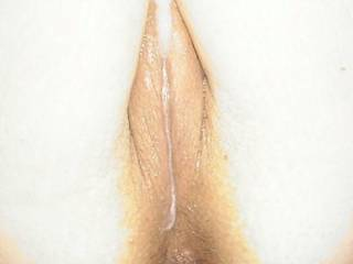 Cummed on dripping pussy
