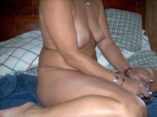 very hot body and absolutely great nipples, I would suck on them a long time unless your clit is that big also and then I would suck on that until you can't take it any longer.