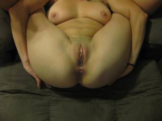 Great position for me to watch my cock slide in and out of your holes