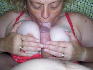 she gets me hard in so many ways....i love titty fucking her.