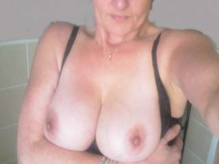 my wife wants to know what do you think of her tits?