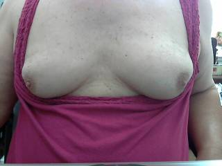 Your tits r so sexy would love to have your legs on my shoulders with my cock up your sexy ass and my face buried in tits and sucking and licking them