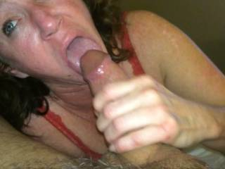 I love the way she spent much of the time concentrating on sucking just your cockhead. I think the cockhead is often the best part of the cock itself!  HD